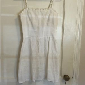 Reformation Linen A-line mini dress